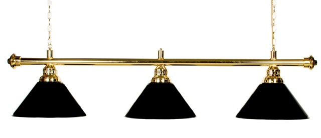 "61""  Pool Table Light - Billiard lamp With Metal Black Shades For 7 or 8' Table"